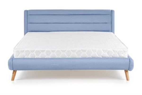 Модерно тапицирано легло в синьо