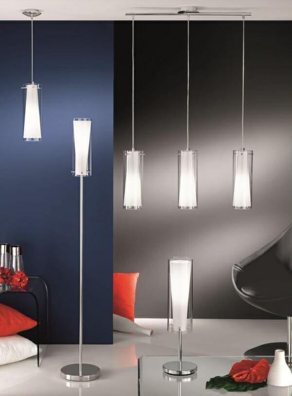 Настолна лампа от стъкло и стомана Pinto - интериорна
