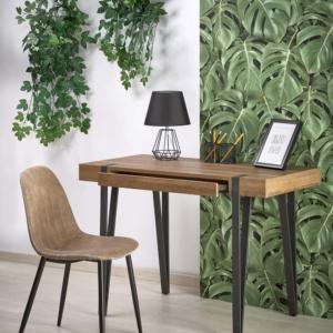 Офис бюро от чамово дърво с чекмедже в индустриален стил