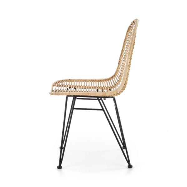 Плетен ратанов стол с метални крака - профил
