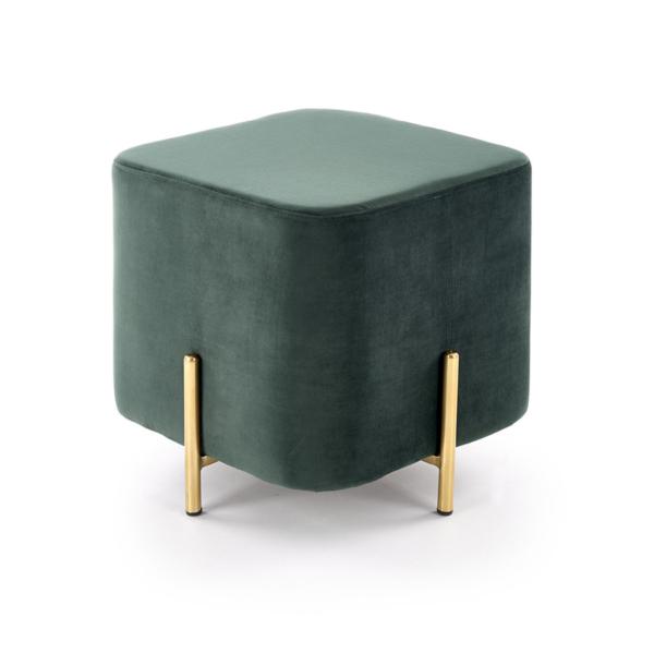 Плюшена табуретка във формата на куб (3 цвята) - в тъмнозелено