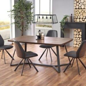 Правоъгълна трапезна маса със заоблени ръбове