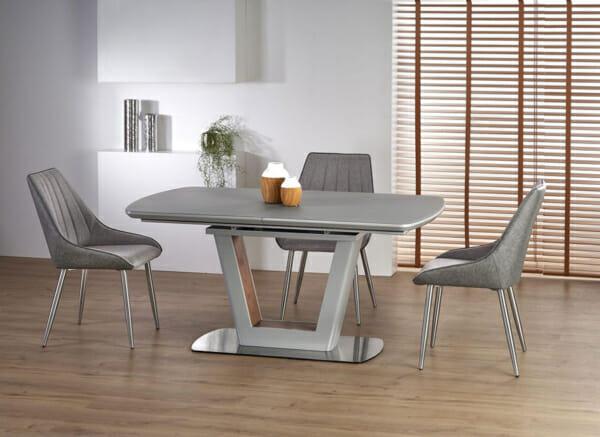 Разтегателна трапезна маса с елегантен дизайн (2 варианта) - светлосива