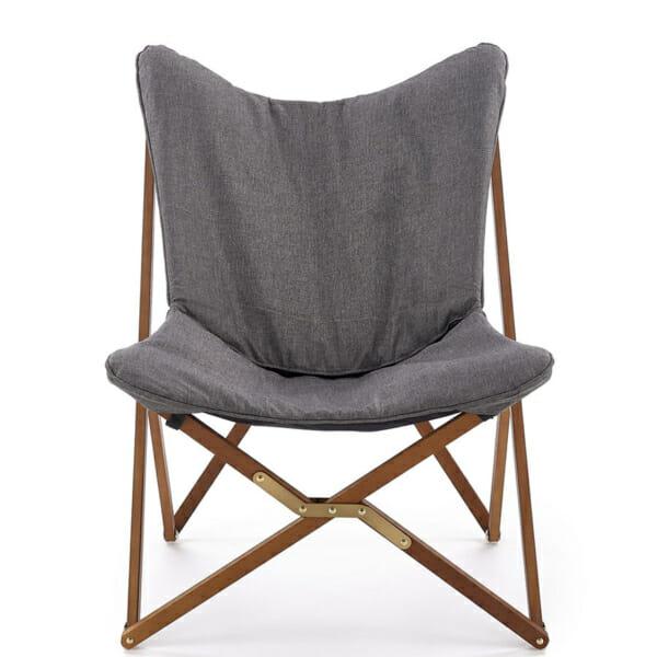 Сгъваем дървен стол с текстилна дамаска (3 цвята) - отпред