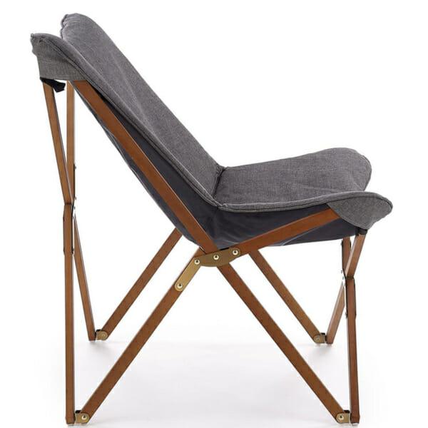 Сгъваем дървен стол с текстилна дамаска (3 цвята) - профил