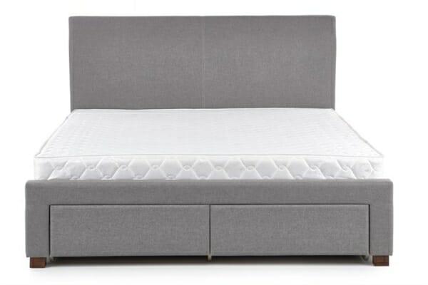Сиво тапицирано легло - отпред