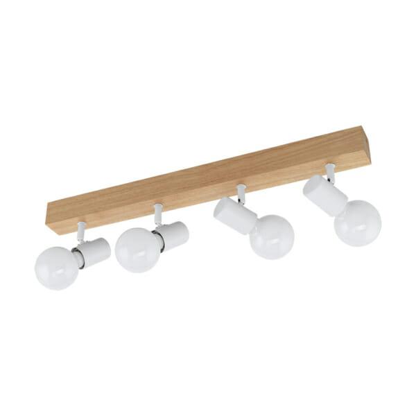 LED спот осветително тяло от дърво и стомана Townshend 3 - четворка