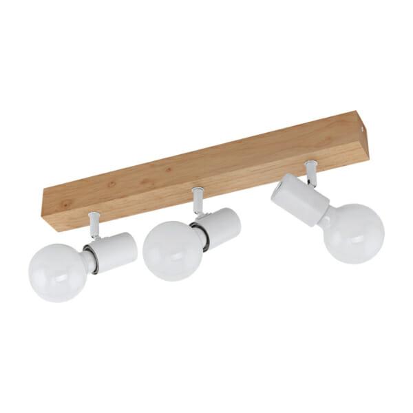 LED спот осветително тяло от дърво и стомана Townshend 3 - тройка
