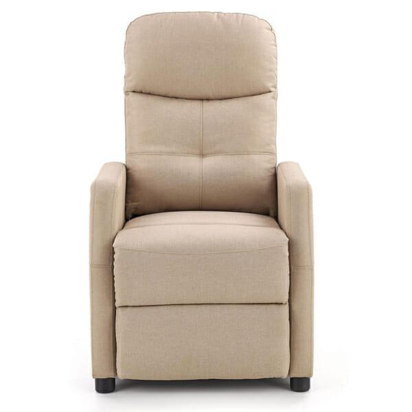 Стилен релакс фотьойл с текстилна дамаска - отпред