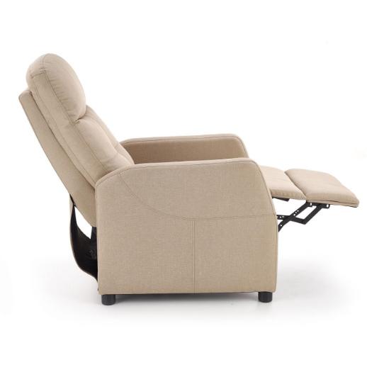 Стилен релакс фотьойл с текстилна дамаска - профил