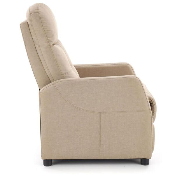 Стилен релакс фотьойл с текстилна дамаска - странично