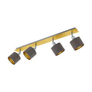 Стилно LED спот осветление от текстил и стомана Valbiano - четворка