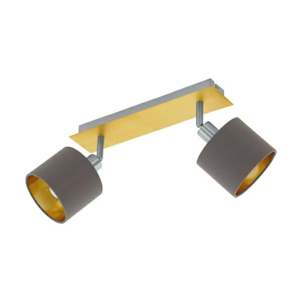 Стилно LED спот осветление от текстил и стомана Valbiano - двойка