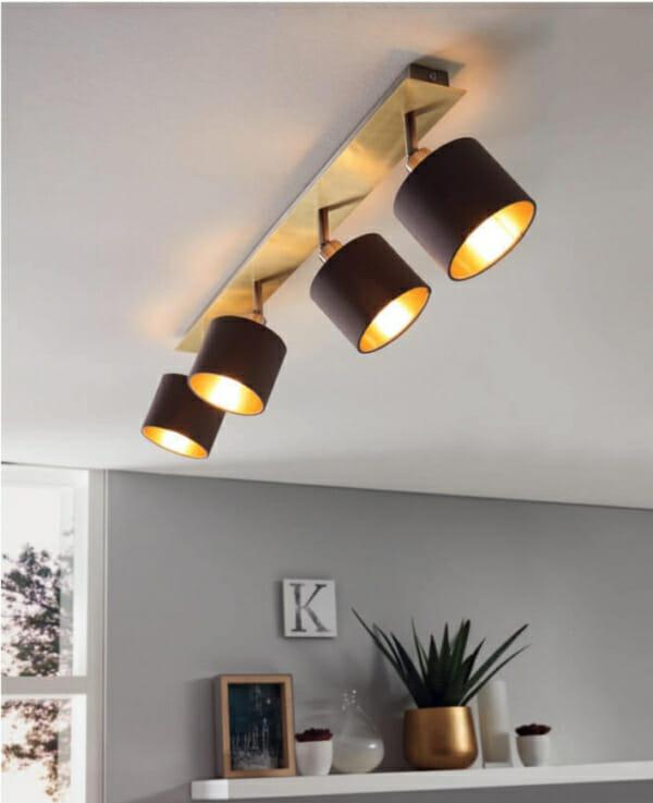 Стилно LED спот осветление от текстил и стомана Valbiano - интериор