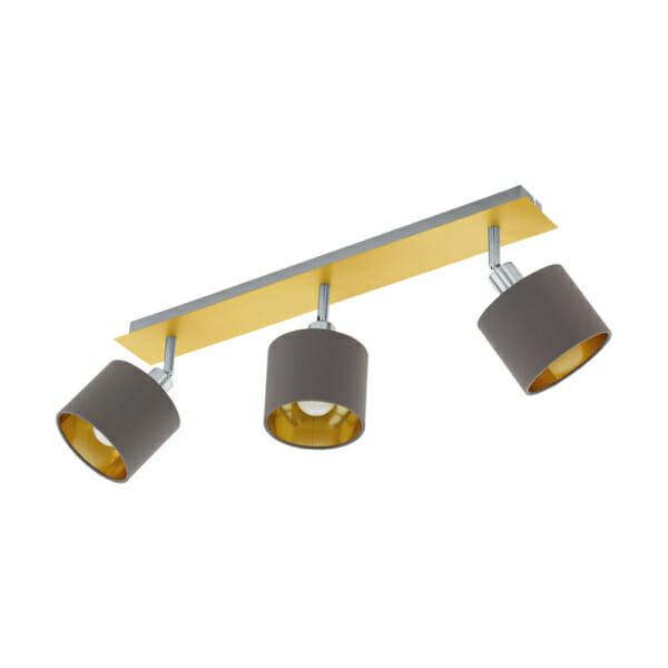 Стилно LED спот осветление от текстил и стомана Valbiano - тройка