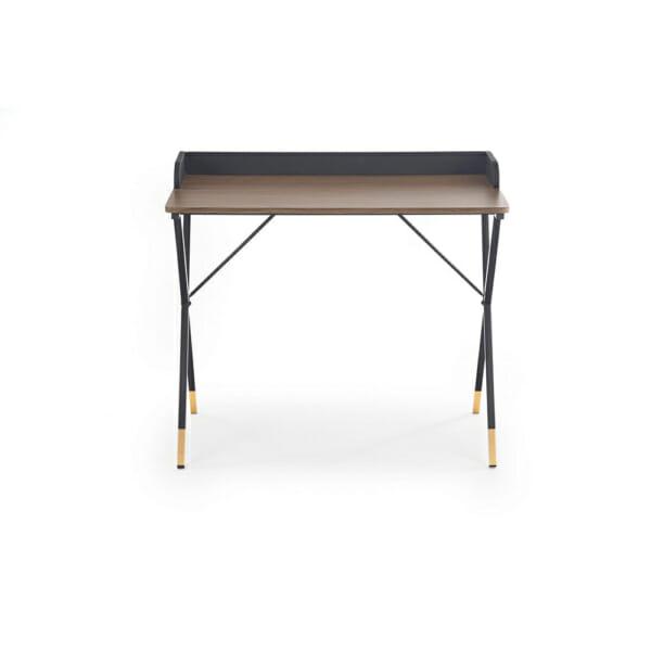 Стилно бюро за домашен офис в черно, орех и златисто-опред