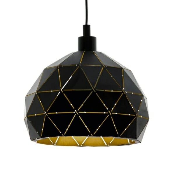 Стоманен пендел в черно и златно Roccaforte - отблизо