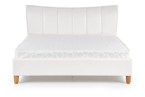 Тапицирано легло в бяла еко кожа