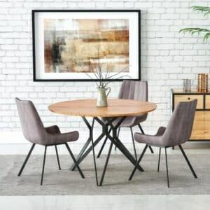 Трапезна кръгла маса с нетрадиционна основа