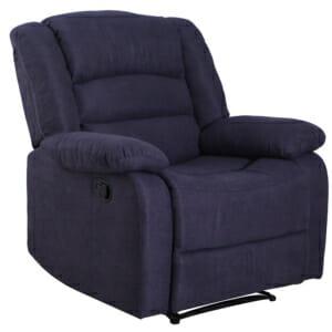 Удобен фотьойл с релакс механизъм в синьо