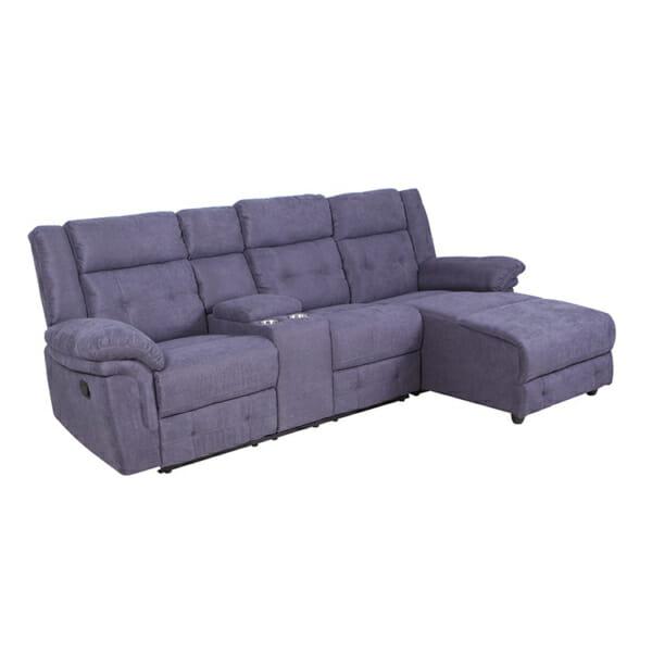 Ъглов диван с релакс механизъм и бар - основна