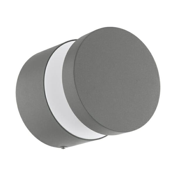 Външен LED аплик от алуминий и пластмаса серия Melzo (2 цвята) - сребрист