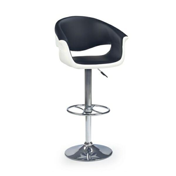 Бар стол в черно и бяло с повдигащ механизъм