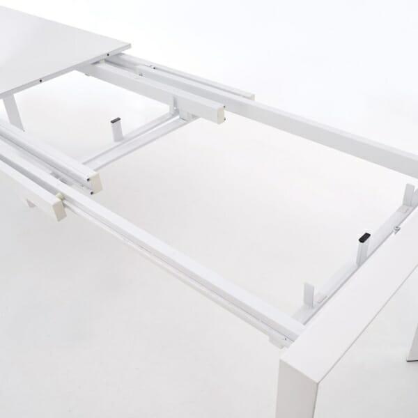 Бяла разтегателна маса с класическа конструкция (2 варианта) - механизъм