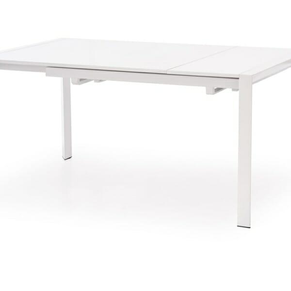 Бяла разтегателна маса с класическа конструкция (2 варианта) - плот