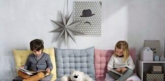 5 Креативни идеи за интериора в детската стая - възглавници по земята