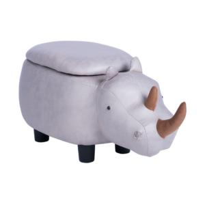 Детска табуретка с формата на носорог