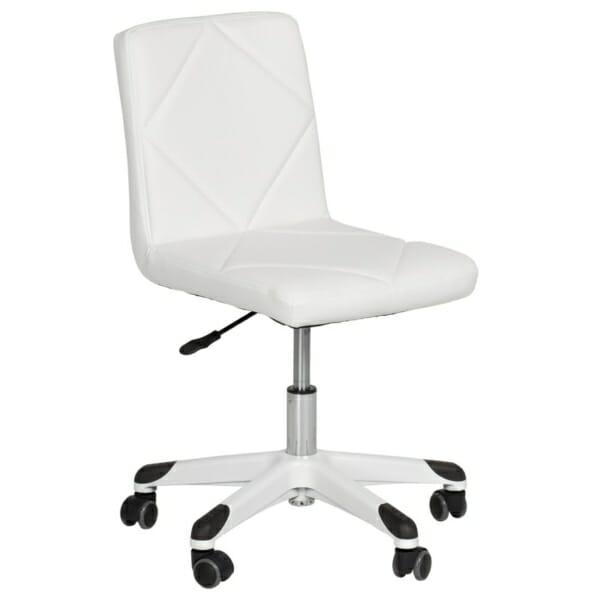 Детски офис стол с повдигащ механизъм в бяло