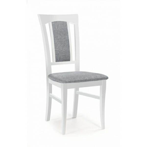 Класически трапезен стол от дърво и дамаска (4 цвята)
