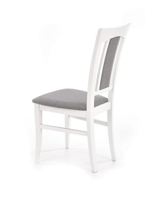 Класически трапезен стол от дърво и дамаска (4 цвята) - диагонал