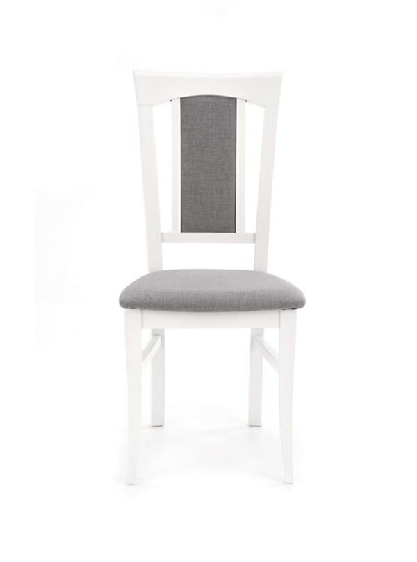 Класически трапезен стол от дърво и дамаска (4 цвята) - отпред