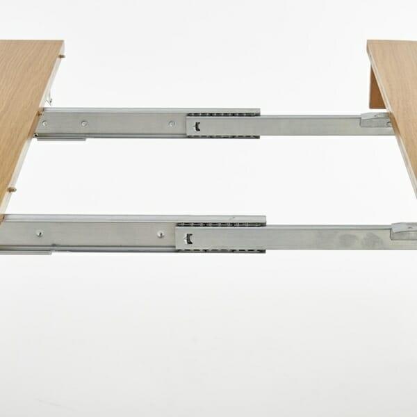 Кръгла разтегателна маса за трапезария от дърво (3 варианта) - механизъм