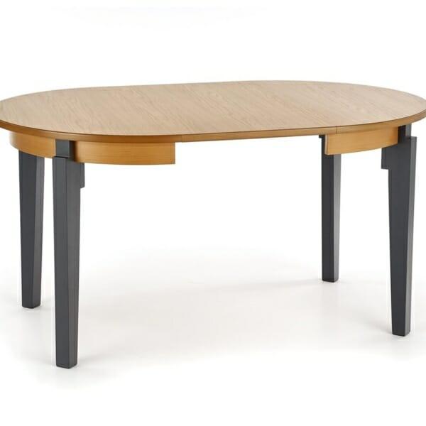 Кръгла разтегателна маса за трапезария от дърво (3 варианта) - разтегната