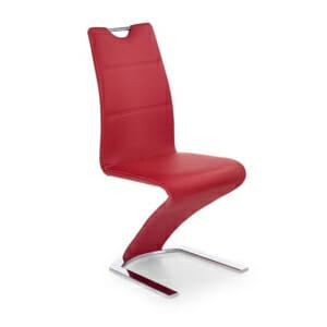 Луксозен стол от еко кожа с футуристичен дизайн (5 цвята)-червен