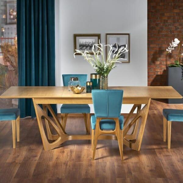 Луксозна дървена маса с уникална основа