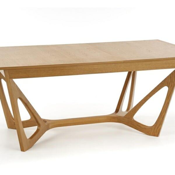 Луксозна дървена маса с уникална основа - диагонал