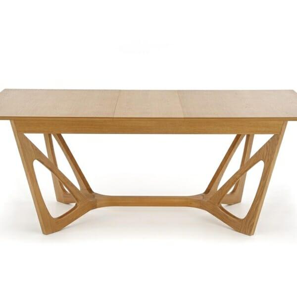 Луксозна дървена маса с уникална основа - отпред