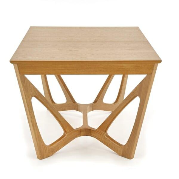 Луксозна дървена маса с уникална основа - странично
