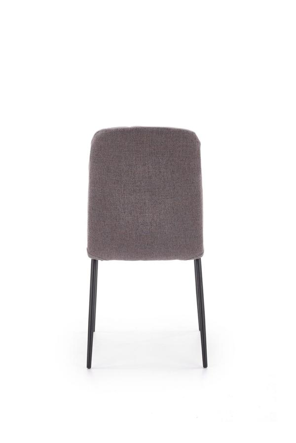 Мек трапезен стол в сиво от еко кожа и текстил-отзад