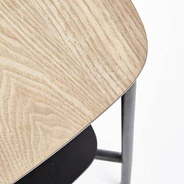 Метална помощна маса с 2 дървени плота серия Genua-детайл