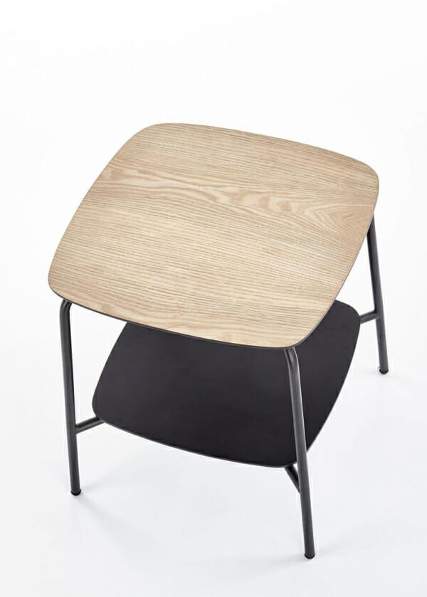Метална помощна маса с 2 дървени плота серия Genua-отгоре