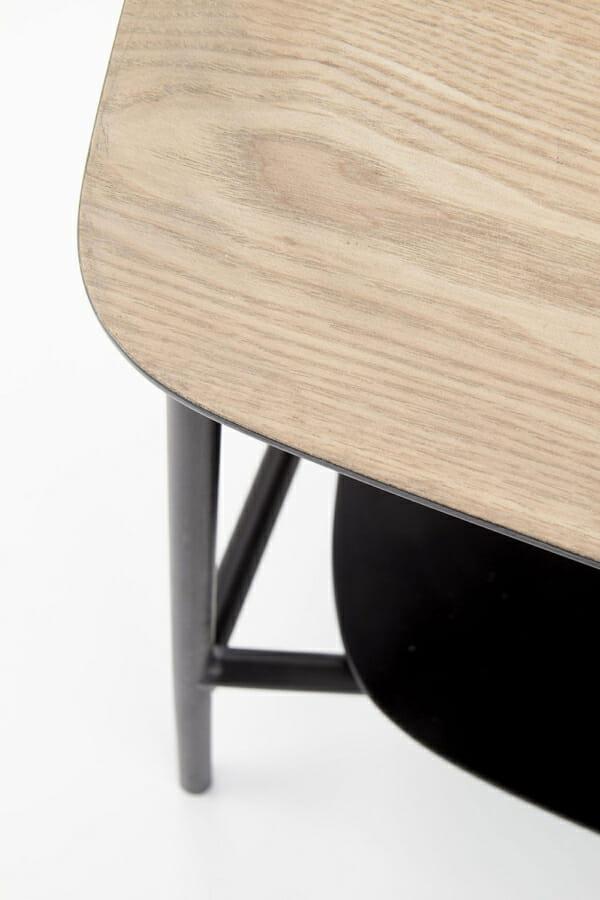 Минималистичен ТВ шкаф от дърво и метал серия Genua-детайл