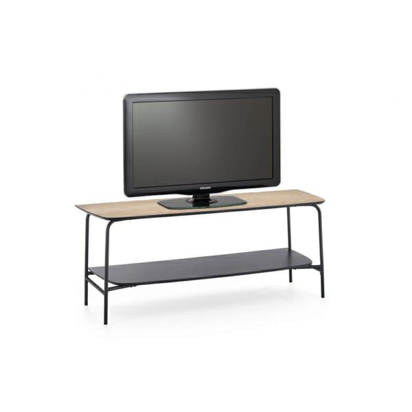 Минималистичен ТВ шкаф от дърво и метал серия Genua с ТВ