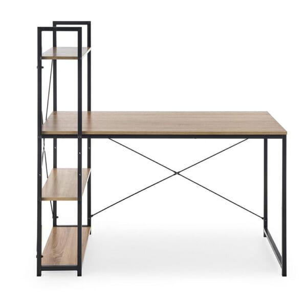Минималистично бюро с 3 рафта и метална конструкция серия Narvik