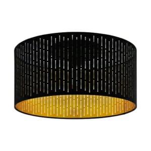 Модерен плафон в черно и златисто серия Varillas