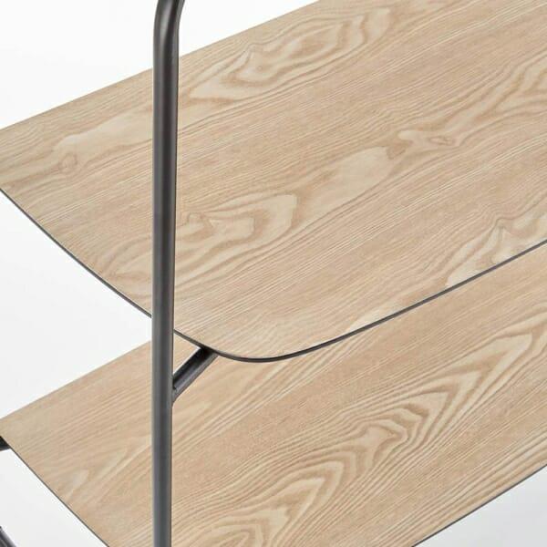 Модерна етажерка от метал и дърво серия Genua-детайл